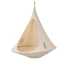 A cross between a hanging tent and a hammock, the Cacoon is a chic and cozy hideaway. Snuggle into the fully enclosed hanging chair to lounge or relax to your heart's content. Hanging Tent, Hanging Chairs, 2nd Anniversary Gifts, Nest Chair, Country Walk, Little Tikes, Outdoor Gear, Luxury, Kids