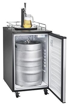 Igloo FRB200C 6 Cubic Feet Beer Kegerator with CO2 Tank and Kit, Stainless Steel *** Click image for more details.