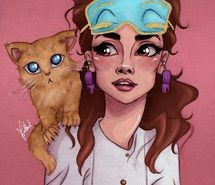 Inspiring image art, audrey hepburn, breakfast at tiffanys, cat, draw, drawing, illustration, meow #3098736 by Bobbym - Resolution 984x1280px - Find the image to your taste