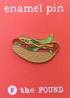 Hotdog Enamel Pin Soft Enamel Pin Jewelry Item by thefoundretail