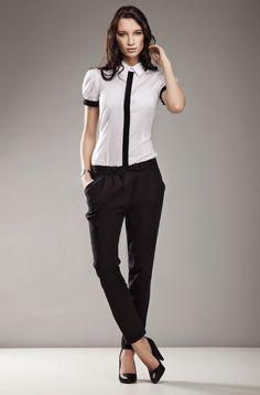 Pantalon taille basse, coupe carotte. Pantalon Noir Femme, Derbies Femme  Look, Carotte. Mademoiselle Grenade 5a279e6ebf06