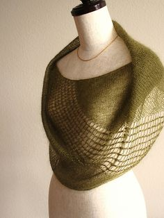 "Ravelry: knittimo's Sylvan Cowl (Pattern ""Jeweled Cowl"") in Shibui Silk Cloud."