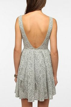 Pins and Needles Backless Lace Dress URBAN OUTFITTERS $39.00