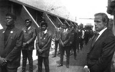 A sense of being an outsider at the Black Panthers' memorial for Little Bobby Hutton in 1968.