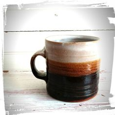 Large Mugs with Brown and Tan Stripes