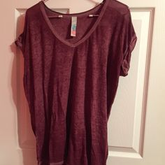 free people top free people keep me tee. knit top with cuffed sleeves Free People Tops