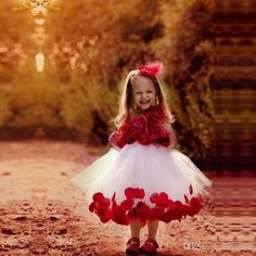 Popular Tutu Flower Girl Dresses 2017 Sleeveless Kids Formal Wear Red Applique Kate Tea Length Little Girls Dresses For Special Occasion Wedding Gowns Bridal Dresses From Faithfully, $70.35| Dhgate.Com