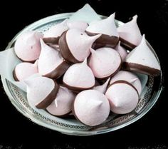 One Perfect Bite: Chocolate Dipped Peppermint Meringues