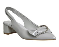 Buy Grey Patent Office Monroe Point Block Buckle Slingbacks from OFFICE.co.uk.
