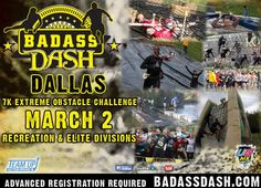 Each BADASS Dash™ will boast unconventional, but achievable obstacles that are truly BADASS. And although each race will have a minimum of 10-12 obstacles, not every race will have the same obstacles and you won't know every obstacle that is on the course as the element of surprise is BADASS in itself! Some of the obstacles that you can expect to see in a BADASS Dash™ are: