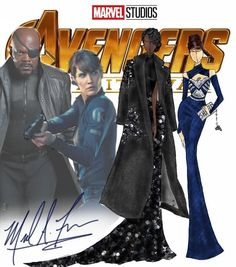 Michael Anthony Creates Avengers-Inspired Gowns and They're Just Gorgeous. Ms Marvel, Marvel Art, Marvel Fashion, Fashion Goth, The Avengers, Avengers Characters, Infinity War, Costumes Marvel, Marvel Inspired Outfits