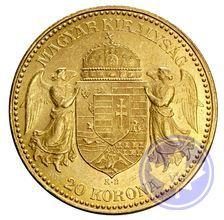 MONNAIE D'OR : 20 couronnes HONGRIE