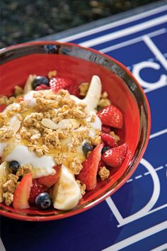 Yummy Yogurt Breakfast Banana Splits on PaulaDeen.com