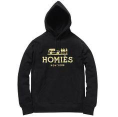 Homies Hoodie - Black/Gold Foil