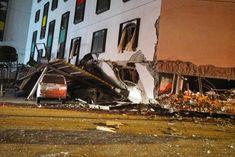 花蓮統帥飯店被震塌下陷,三樓變成一樓。(Getty Images)
