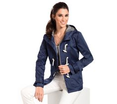 Parka v námorníckom štýle | modino.sk #modino_sk #modino_style #style #fashion #newseason #autumn #fall Leather Jacket, Jackets, Style, Fashion, Tunics, Studded Leather Jacket, Down Jackets, Leather Jackets, Moda