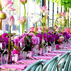 Flashback a few Sunday's ago, event design and styling I did in collaboration with my favorite person @jasonjamesdesign for a 50 person sit down lunch. All about pink! Custom napkins, menus, candles and of course stunning floral design by @seedflora