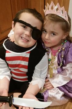 A Pirate and a Princess what we do with Halloween