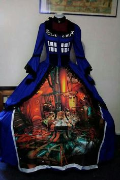 Tardis dress. Bigger on the inside. would never wear it though...