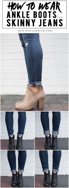 How to wear ankle boots with skinny jeans is one of my most-asked questions this time of year. And depending on the length of your jeans, that likely requires some sort of cuff...and there are several to choose from, depending on the look and style you prefer.