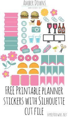 Spring planner stickers