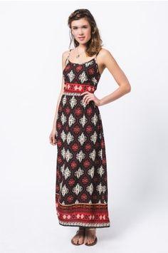 *Diamond Print Maxi Dress*