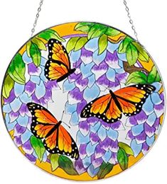 Bits and Pieces Home and Garden Décor-Artistic Butterfly Suncatcher - Hand Painted Monarch Butterfly Makes a Stunning Window Display Butterfly Gifts, Monarch Butterfly, Lawn And Garden, Home And Garden, Artistic Colour Gloss, Peacock Art, Window Decals, Nature Crafts, Real Flowers