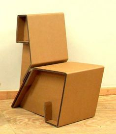 33 Creative Cardboard Furniture Designs - From Folded Cardboard Furnishings to Comfy Waffle Seating (TOPLIST)