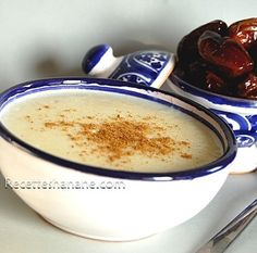 Hssoua à la semoule (soupe marocaine) Moroccan Soup, Morrocan Food, Harira, Ramadan, Couscous, Food And Drink, Pudding, Sweets, Dishes