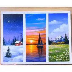 Canvas Painting Tutorials, Diy Canvas Art, Painting Techniques, Painting Art, Painting Tools, Painting Lessons, Online Painting, Oil Painting Easy, Beginner Painting
