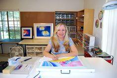 Ester Roi's color pencil studio!  Love!!