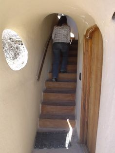 cob house stairwell