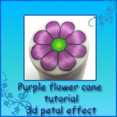 Polymer clay PURPLE-FLOWER cane tutorial