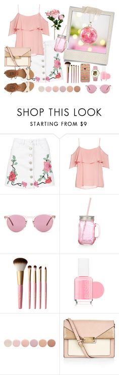 """Pink Summer Outfit"" by blossom-and-bronze on Polyvore featuring Polaroid, Boohoo, BB Dakota, Oliver Peoples, Too Faced Cosmetics, Essie, Deborah Lippmann, Accessorize and Billabong"