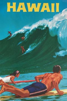 Poster Discover 9 Vintage Hawaii Travel Posters (That Will Make You Want To Pack Your Bags!) The Anthrotorian 9 Vintage Hawaii Travel Posters (That Will Make You Want To Pack Your Bags!) The Anthrotorian Posters Paris, Posters Decor, Room Posters, Diy Poster, Poster Wall, Poster Prints, Vintage Hawaii, Vintage Surf, Vintage Ads