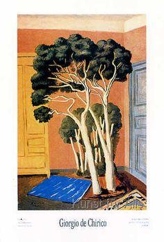 Giorgio De Chirico - Les arbres dans la chambre