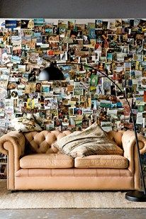 I can't wait to design my postcard wall