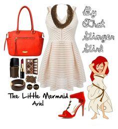The Little Mermaid: Ariel by taylormarieallen on Polyvore featuring polyvore, fashion, style, Liz Claiborne, Dettagli, Fornash, NYX, Bobbi Brown Cosmetics and Illamasqua