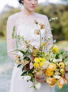 yellow garden bouquet