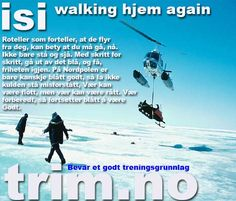 easy walking home again: helikopter som drar med snøscooteren.