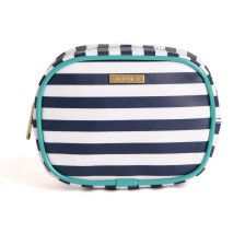 Daphne Striped Pouch - Navy