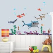 Finding Nemo and Shark Wall Stickers