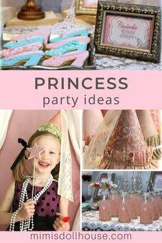 Pretty princess hats for a little girl's party! Pretty floral and lace galore.celebrate your little princess with a beautiful princess party! Birthday Party Treats, 1st Birthday Party For Girls, 1st Birthday Party Decorations, Princess Birthday, Vintage Princess Party, Diy Party, Party Ideas, Princess Hat, Girl Parties