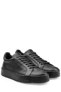 new style a58b1 507e3  jilsander  shoes   All Black Sneakers, Leather Sneakers, Jil
