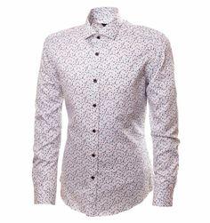 cdf4d4ca42b3fe3 Белая рубашка с узором в магазине BeMad. Бесплатная доставка по Москве и РФ