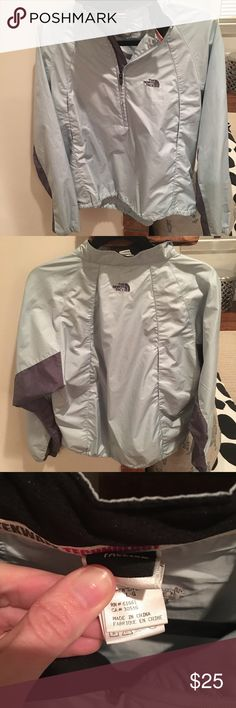 Women's North face lightweight Pullover Light green(aqua) and grey lightweight Pullover from North face. Worn a handful of times, elastic bottom. Excellent condition North Face Jackets & Coats