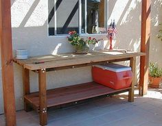 Outdoor Buffet Table For Summer Design