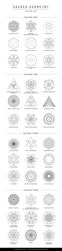 """""""I created this PDF guide and short video to go over a few Sacred Geometry symbols, their names and meanings -- learn more and how to create your own Sacred Geometry artwork (click the image to watch)"""" Geometric Designs, Geometric Shapes, Geometric Mandala, Geometric Symbols, Geometric Tiger, Geometric Tattoo Meaning, Sacred Geometry Symbols, Sacred Geometry Tattoo, Geniale Tattoos"""