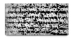 BISCO SMITH - VERSE 2 - 24 x 12 - mixed media on wood w/ resin finish - 2013 Deconstruction, Latex, Graffiti, Fine Art Prints, Resin, Mixed Media, Ink, Graphic Design, Black And White