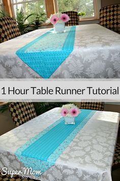 Table runners are easy beginner sewing projects. This One Hour Table Tutorial will show you how to create two beautiful table runners. one the reverse of the other. Complete step-by-step instructions with lots of detailed photos. Easy Sewing Projects, Sewing Projects For Beginners, Sewing Hacks, Sewing Ideas, Sewing Tips, Sewing Crafts, Sewing Tutorials, Sewing Lessons, Diy Projects